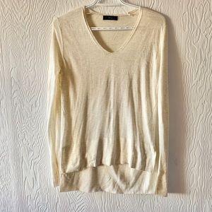 ZARA KNIT high low V neck sweater
